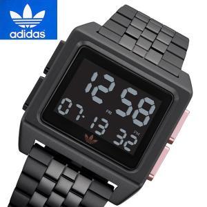 アディダス オリジナルス adidas Originals 腕時計 デジタル ユニセックス/メンズ・レディース Archive_M1 ブラックIP Z01-3077|bellmart