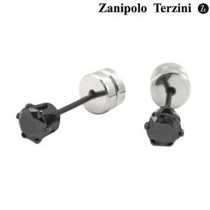 Zanipolo Terzini ザニポロ タルツィーニ ピアス ステンレス製 ブラックジルコニア ZTE3645-BK(2個/両耳用) bellmart