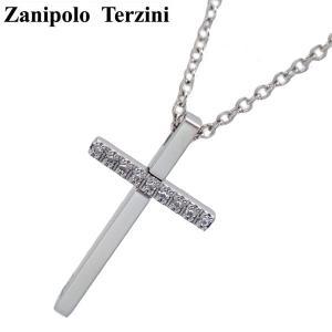 Zanipolo Terzini(ザニポロ・タルツィーニ)サージカルステンレス製 ペンダント/ネックレス (チェーン付)レディース ジルコニア クロス ZTP2249-FM-SUS bellmart