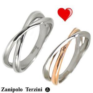 Zanipolo Terzini(ザニポロ・タルツィーニ)サージカルステンレス製 ペアリング(男女2個セット)メンズ & レディース ZTR425MA-SUS ZTR425FM-SUSU/RG bellmart