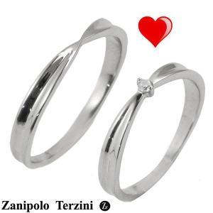 Zanipolo Terzini(ザニポロ・タルツィーニ)サージカルステンレス製 ペアリング(男女2個セット)メンズ & レディース ジルコニア ZTR427MA-SUS ZTR427FM-SUS bellmart