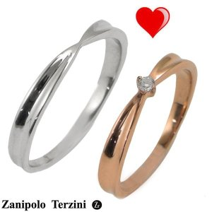 Zanipolo Terzini(ザニポロ・タルツィーニ)サージカルステンレス製 ペアリング(男女2個セット)メンズ & レディース ジルコニア ZTR427MA-SUS ZTR427FM-RG bellmart