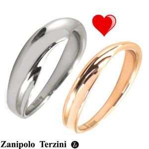 Zanipolo Terzini(ザニポロ・タルツィーニ)サージカルステンレス製 ペアリング(男女2個セット)メンズ & レディース ZTR428MA-SUS ZTR428FM-SUSU/RG bellmart