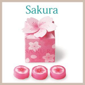 プチギフト 結婚式 お菓子 退職 桜ボックス1個 bellsimple-kiratto