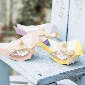 プチギフト 結婚式 お菓子 退職 ウェルカムバード プチ(ハートクッキー)1個|bellsimple-kiratto|03