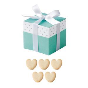 マリアージュブルー(ハートクッキー) 1個 プチギフト 結婚式 お菓子 退職 サムシングブルー ブルー|bellsimple-kiratto
