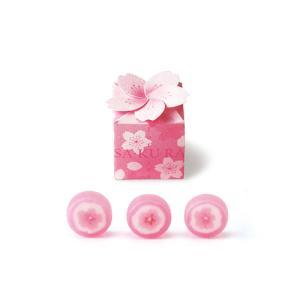 桜ボックス1個 プチギフト 結婚式 お菓子 退職 さくら サクラ|bellsimple-kiratto