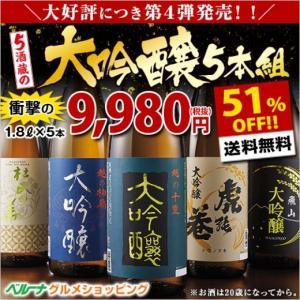 日本酒 大吟醸(驚きの51%OFF!)第4弾特割!5酒蔵の大...