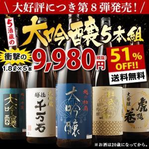 日本酒 大吟醸(驚きの51%OFF!)第8弾特割!5酒蔵の大...