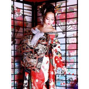 着物 和装 レディース 女性 着物セット 流遊 OEO 花魁セット 赤 振り袖 通販 キャバ ドレス...