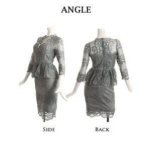 キャバ ドレス キャバドレス キャバクラ ミニドレス パーティードレス Ryuyu レース 膝丈 7分袖 キャバクラドレス あすつく 小さいサイズ ナイトドレス|belsia|15