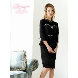 キャバ ドレス キャバドレス キャバクラ ミニドレス パーティードレス Ryuyu レース 膝丈 7分袖 キャバクラドレス あすつく 小さいサイズ ナイトドレス|belsia|05