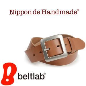ベルト メンズ レディース 送料無料 日本製 栃木レザー/Nippon de Handmade/40mm幅 カジュアル 牛革 本革ベルト|beltlab-y