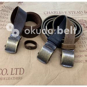 ベルト メンズ ガチャベルト 32ミリ 英国製 希少な kudu クードゥー レザーベルト GIベルト おしゃれ 本革 送料無料 自社生産 日本製|beltokuda