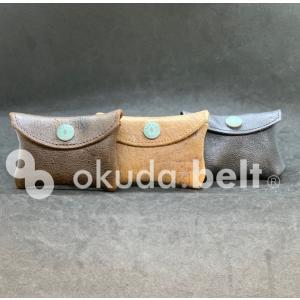 コインケース 小銭入れ クードゥー kudu 希少 英国製 イギリス製 本革 メンズ レディース 男女兼用 財布 自社生産 日本製 革小物 おしゃれ アウトレット|beltokuda