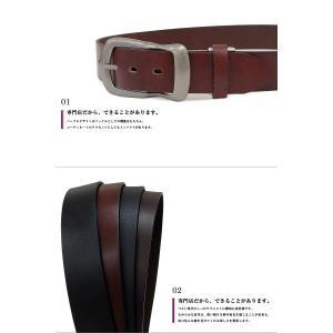 ベルト メンズ 本革 レディース 日本製 カジュアル 牛革 レザーベルト 馬蹄型バックル|belton|03