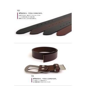 ベルト メンズ 本革 レディース 日本製 カジュアル 牛革 レザーベルト 馬蹄型バックル|belton|04