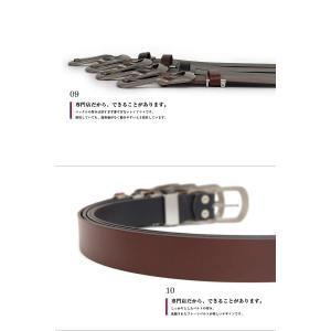 ベルト メンズ 本革 レディース 日本製 カジュアル 牛革 レザーベルト 馬蹄型バックル|belton|05