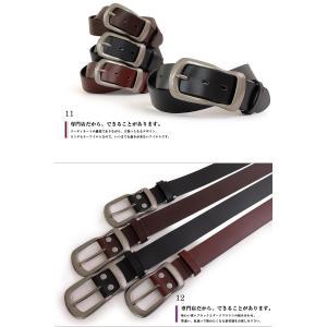 ベルト メンズ 本革 レディース 日本製 カジュアル 牛革 レザーベルト 馬蹄型バックル|belton|06