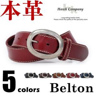 メンズ ホークカンパニー Hawk Company 牛革 3...