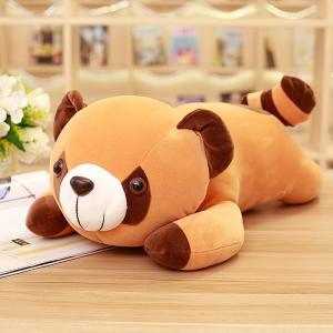 ぬいぐるみ アライグマ ねむねむ抱き枕 昼寝枕 インテリア ふわふわ 誕生日ギフト 40cm|beluhappines