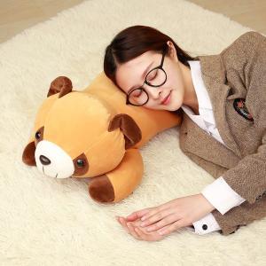 ぬいぐるみ アライグマ  おもちゃ 抱き枕 癒し かわいい こども ベビー 誕生日ギフト 55cm|beluhappines