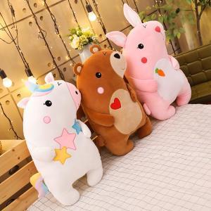 ぬいぐるみ ユニコーン ウサギ クマ 抱き枕 クッション インテリア雑貨 誕生日プレゼント 60cm beluhappines
