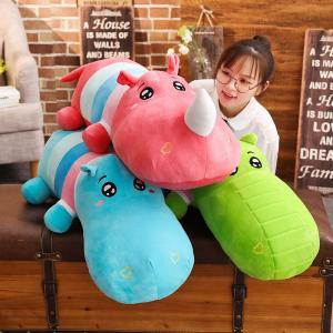 ぬいぐるみ ワニ 鰐 かば 河馬 サイ 抱き枕 大きい かわいい ふわふわ 彼女 誕生日プレゼント 100cm|beluhappines