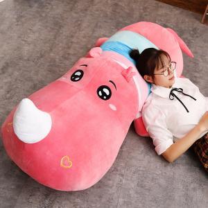 ぬいぐるみ 鰐 わに サイ かば ねむねむ抱き枕 クッション かわいい ふわふわ 誕生日プレゼント160cm|beluhappines