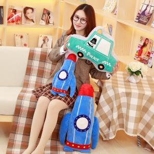 ぬいぐるみ くるま 車 ロケット 抱き枕 おもちゃ 子供の日 新年 誕生日プレゼント インテリア