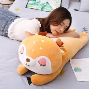 ぬいぐるみ しか ふわふわ 抱き枕 クッション かわいい インテリア 添い寝 昼寝枕 35cm|beluhappines