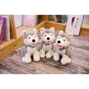 ぬいぐるみ  いぬ イヌ 犬 ハスキー おもちゃ インテリア 景品 誕生日ギフト 38cm|beluhappines