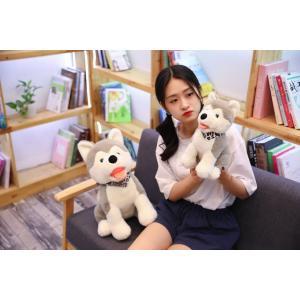 ぬいぐるみ  いぬ 犬 イヌ ハスキー かわいい おもちゃ ふわふわ 誕生日ギフト48cm|beluhappines