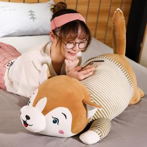 ぬいぐるみ いぬ ハスキー ふわふわ 抱き枕 添い寝 かわいい ギフト 120cm|beluhappines