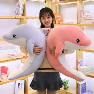ぬいぐるみ 海豚 イルカ 大きい 水族館 動物 抱き枕 おもしろクッション ねむねむ ふわふわ クリスマス 誕生日 プレゼント 90cm|beluhappines