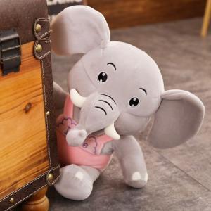 ぬいぐるみ ぞう 象 抱き枕 クッション おもちゃ 子供 誕生日プレゼント45cm beluhappines