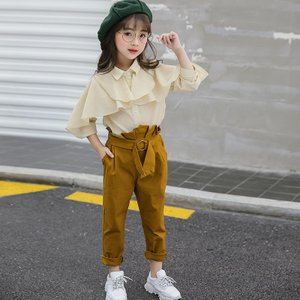 子供服 服 上下セット 女の子 春 夏 秋 レディース カウチョパンツ トップス オシャレ セットアップ beluhappines