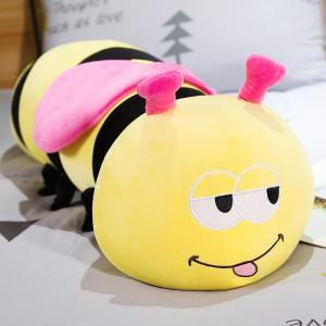 ぬいぐるみ ミツバチ おもちゃ 抱き枕 かわいい ふわふわ 昼寝枕 ギフト 45cm|beluhappines