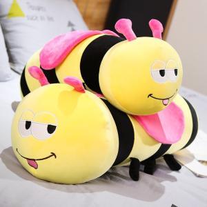 ぬいぐるみ ミツバチ 抱き枕 クッション かわいい ふわふわ 誕生日プレゼント55cm|beluhappines