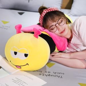 ぬいぐるみ  ミツバチ 抱き枕 クッション 昼寝枕 インテリア 誕生日プレゼント90cm|beluhappines