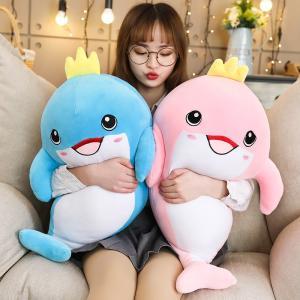 ぬいぐるみ イルカ 抱き枕 クッション ふわふわ インテリア 誕生日プレゼント 70cm|beluhappines