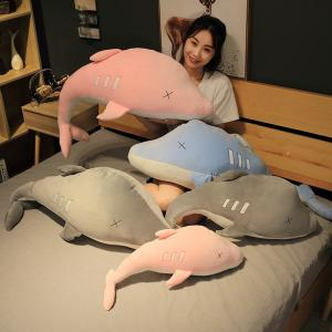 ぬいぐるみ イルカ 抱き枕 おもちゃ かわいい ふわふわ インテリア クリスマスプレゼント70cm|beluhappines