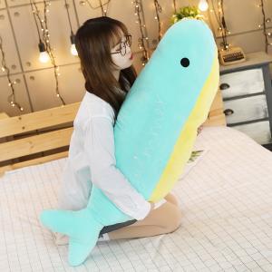 イルカ ぬいぐるみ 海豚 抱き枕 クッション かわいい 昼寝 添い寝 ふわふわ 誕生日プレゼント110センチ|beluhappines