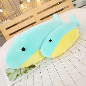 ぬいぐるみ イルカ 抱き枕 クッション おもちゃ ふわふわ かわいい 昼寝 誕生日プレゼント 70cm|beluhappines