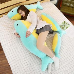 ぬいぐるみ 海豚 イルカ かわいい 動物抱き枕 クッション 昼寝 誕生日プレゼント90cm|beluhappines