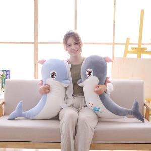 ぬいぐるみ 海豚 イルカ かわいい ふわふわ おもしろ雑貨 抱き枕 クッション 誕生日プレゼント80cm|beluhappines