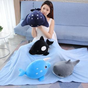 ぬいぐるみ くじら 鯨 水族館 抱き枕 食店飾り インテリア雑貨 誕生日プレゼント 猫用品 おもちゃ 50cm|beluhappines