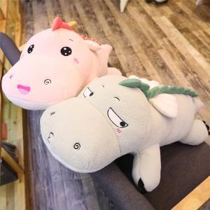 ぬいぐるみ 恐竜 抱き枕 クッション かわいい インテリア クリスマスプレゼント90cm|beluhappines