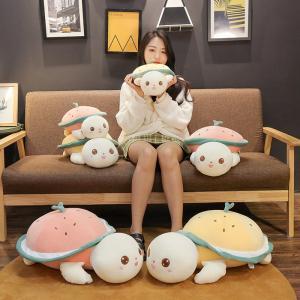 ぬいぐるみ かめ カメ ふわふわ かわいい おもちゃ 子供 宥め 誕生日ギフト40cm|beluhappines