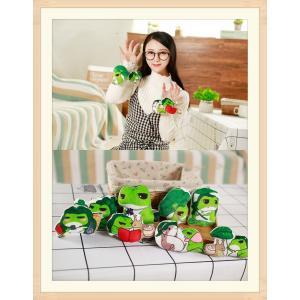ぬいぐるみ 蛙 キーホルダー おもちゃ インテリア 車用 クリスマス 誕生日 プレゼント コレクション 景品 10cm|beluhappines